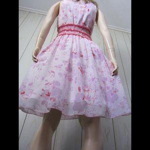 ABS ALLEN SCHWARTZ Chiffon Babydoll Party Dress